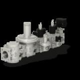 Блок электромагнитных клапанов с регулирующей заслонкой