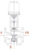 Клапан трехходовой смесительный регулирующий